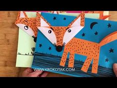 children activities, more than 2000 coloring pages Animal Art Projects, Fall Art Projects, Animal Crafts For Kids, Winter Crafts For Kids, Crafts For Kids To Make, Craft Activities For Kids, Art For Kids, Fox Crafts, Kindergarten Crafts
