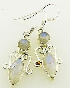 """SOLD! Kristine Z: """"OK so I went overboard - also a present - just beautiful. I will buy all my presents here now. Quality work!"""" Genuine Moonstone Solid Sterling Earrings Retail price: $60  OUR PRICE $25 http://wheredidyoubuyit.bigcartel.com/product/genuine-moonstone-solid-sterling-earrings"""