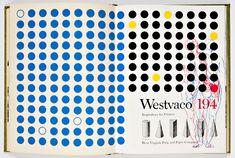spread from Westvaco II, inspiration for printers by Bradbury Thompson (1953-1955)