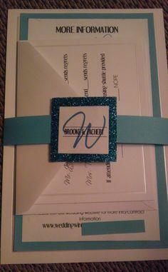 DIY invites :  wedding blue diy invitations silver wedding wording Invite1