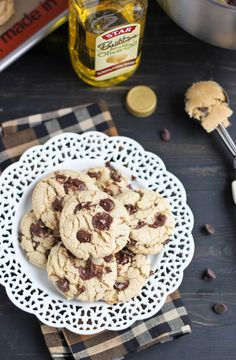 Olive Oil Chocolate Chip Cookies using Star Butter Flavored Olive Oil Recipe developed by Bake Your Day