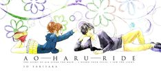 Zerochan anime image gallery for Ao Haru Ride (Blue Spring Ride), Official Art. Tanaka Kou, Futaba Y Kou, Ao Haru, Blue Springs Ride, Raw Manga, Manga List, Romance, Pretty Art, Shoujo