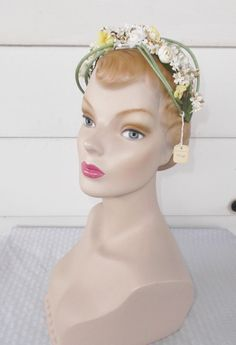 50s 60s Vintage NOS Unworn Headband Hat with by MyVintageHatShop