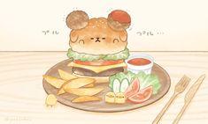 Kawaii Chibi, Cute Chibi, Kawaii Art, Cute Cartoon Wallpapers, Cute Wallpaper Backgrounds, Wallpaper Iphone Cute, Cute Food Drawings, Cute Animal Drawings Kawaii, Pusheen Cute