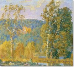 Bucks County Impressionist Painting   ... Afternoon September 1915 - Bucks County by Daniel Garber   Painting