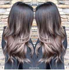 Dry, damaged hair needs some serious TLC. Check out these miracle workers that readers promise will -- finally -- give you that gorgeous, healthy hair Grey Balayage, Balayage Hair, Haircolor, Cool Tone Hair Colors, Cool Tone Brown Hair, Cool Tones, Look 2018, Hair Color And Cut, Brunette Hair