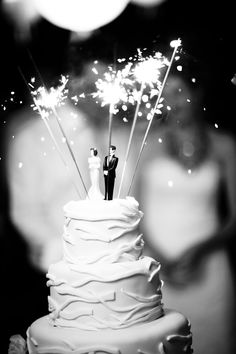 Sparklers on the cake