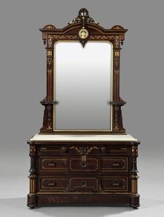 Pottier & Stymus Aesthetic Bedroom Set, 3rd Quarter Of The 19th Century