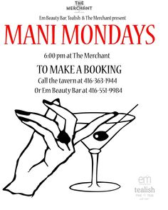 "SUMMER 2016 - ""Mani Mondays"" every Monday pm) at The Merchant, 181 University Ave. in Toronto. Twinkle fingers can book by calling (Thanks to partners, and Tumblr Drawings, Finger Painting, My Tumblr, Beauty Bar, Mondays, Summer 2016, Fingers, Toronto, Digital Art"