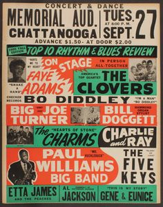 50s style music poster