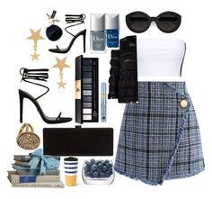 """""""Chic Tweed Winters"""" by pulseofthematter ❤ liked on Polyvore featuring Amarilo, Chicwish, Edie Parker, Carla Zampatti, John Lewis, Christian Dior, Estée Lauder, Mark & Graham and LSA International"""