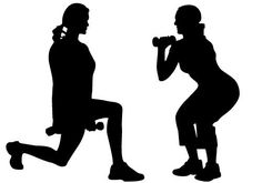 Women Exercise Vector Free Download | Silhouette Clip Art ...