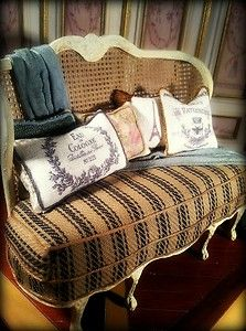 Handcrafted One of A Kind Settee by June Clinkscales | eBay