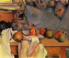 CÉZANNE, Paul French Post-Impressionist (1839-1906) _Still Life with Pomegranate and PearsPaul Cézanne - 1890-1893