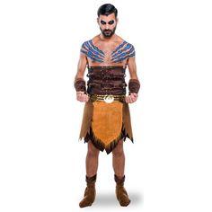 El disfraz driagos juego de tronos hombre, incluye Falda, top, cinturón y muñequeras en DisfracesMimo.com