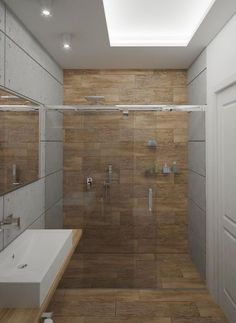 Carrelage design en céramique effet bois | Salle de bain design ...