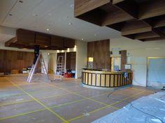 Aufbauphase Restaurant, Basketball Court, Interior Designing, Design Interiors, Restaurants, Dining Room