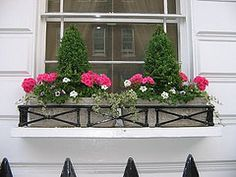 #window #boxes Would be great style for underneath front of house windows