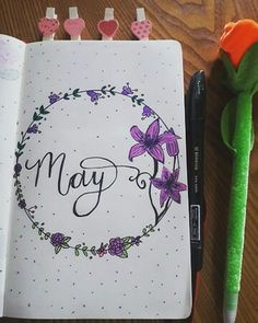 Hello May Hola Mayo Bullet journal