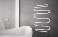 Terma Spiro http://www.termaheat.pl/spiro%28en%29-p-269.html?language=en #radiator #towelrail #electricheating #ecoheating #design #interior #interiordesign #architecture #form #style #inspiration #forthehome #bathroom #wzornictwo #grzejnik #architektura #projektowanie