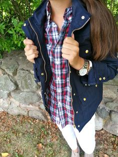 Styling the J.Crew Navy Field Jacket.