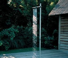 """Maybe it's because I'm from Edmonton, Alberta (""""Right next to the North Pole"""" as my mom used to always say) that I find something about outdoor showers fantastical. It's like an instant escape, and t"""