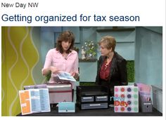 Need help organizing your tax papers? Our publisher, Stacey, features great tips/products on New Day Northwest that will help!