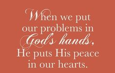 Trading my problems for His peace through the privilege and power of prayer~<3