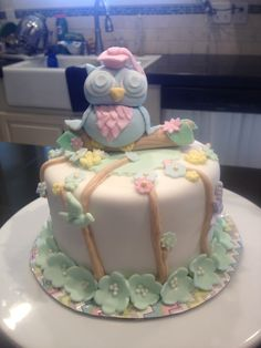 Owl grad cake