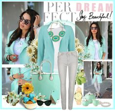 """""""Mint Fashion"""" by fashionablesam ❤ liked on Polyvore"""