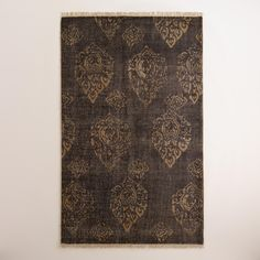 Rugs can make either nice flooring or wall linings in your LARP tent or pavilion. $202.49 - $427.49 U$D in 5'x8' or 8'x10'. - Radley Floral Hand-Knotted Wool Area Rug | World Market