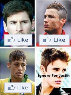 Like for Messi, Ronaldo and/or Neymar Ignore for JB