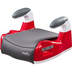 RED Booster Car Seat Evenflo No Back New free shipping #Evenflo