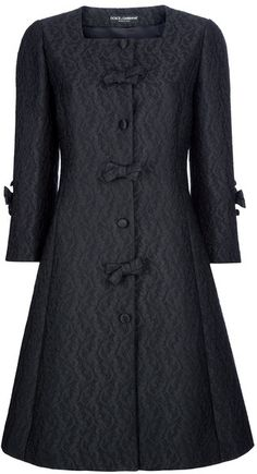 DOLCE GABBANA Flared Paisley Print Coat - Lyst