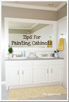 "Tips for Painting Cabinets  Saving for ""just in case"" someone in the family needs this information."