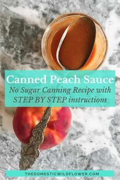 We've all heard of applesauce but what about peach sauce? This recipe will share a great way of making peaches into a sauce that even babies can enjoy that's thicker than just plain peach puree. Easy Canning, Canning Tips, Canning Recipes, Maple Whiskey, Peach Sauce, How To Peel Peaches, Canning Process, Canning Peaches