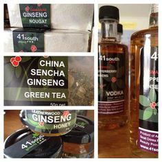 Ginseng nougat, ginseng tea, ginseng and leatherwood honey and ginseng vodka!  www.41southtasmania.com