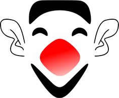 laughing clown face