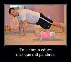 Recuerden que los hijos siempre siguen el ejemplo de los padres.  Abrazos!
