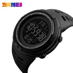 SKMEI Fashion Outdoor Sport Multifunction Waterproof Digital Watch Men 1251 One of the most popular watches ▪ Gender: Men ▪ Style: Sport,Fashion,Casual ▪ SKMEI Fashion Outdoor Sport Multifunction Waterproof Digital Watch Men 1251 Army Watches, High End Watches, Mens Sport Watches, Watches For Men, Bracelet Couple, Jogging, Sport Fashion, Mens Fashion, Most Popular Watches
