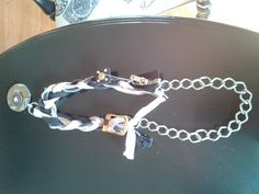 braided zipper necklace