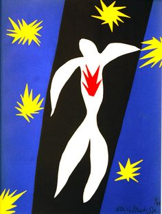 Fall of Icarus from the book Jazz - Henri Matisse - 1943 - collaged paper - stars