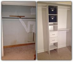White Custom Closet Organizer