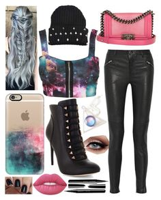 """Punk Rock Chick"" by makaypay on Polyvore featuring BLK DNM, Casetify, BCBGMAXAZRIA, Lime Crime and Marc Jacobs"