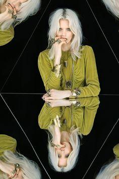 Platinum hair.