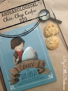 Archaeological Choc-Chip Cookie Dig and book review. Visit My Little Bookcase for details.