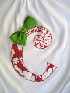 Christmas Initial Shirt with or without by MissMollyMacDesigns, $18.00