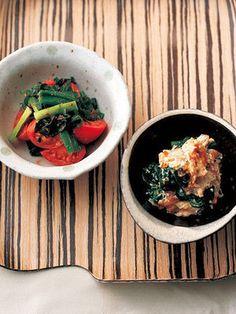 【ELLE a table】わけぎ、わかめ、シュガートマトの粒マスタード 和えレシピ|エル・オンライン