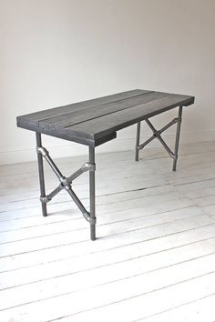 reclaimed board dining table painted black by inspirit | notonthehighstreet.com