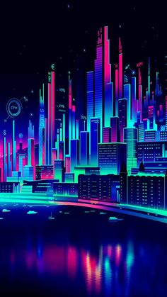 Commissioned illustration by Adobe for the cannes creative effectiveness awards Cyberpunk Aesthetic, Cyberpunk City, Neon Aesthetic, Neon Wallpaper, Iphone Wallpaper, Vaporwave Wallpaper, Vaporwave Art, Retro Waves, Retro Futurism